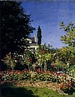 Claude Monet Garden In Flower At Sainte-Adresse painting