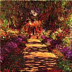 Claude Monet Wall Art - Garden Path at Giverny