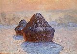 Claude Monet Grainstacks_ White Frost Effect painting