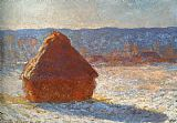 Famous Snow Paintings - Haystack snow effect