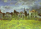 Claude Monet Houses at Argenteuil painting