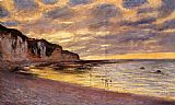 Claude Monet L'Ally Point Low Tide painting