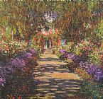 Path Canvas Paintings - Main Path through the Garden at Giverny
