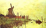 Claude Monet Mill near Zaandam painting