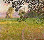 Claude Monet Morning Landscape Giverny painting