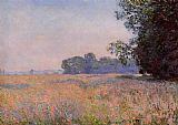 Claude Monet Oat Field painting
