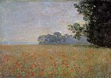 Claude Monet Oat and Poppy Field 2 painting