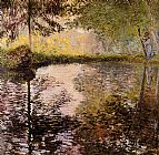 Claude Monet Pond at Montgeron painting