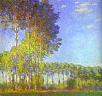 pop Canvas Paintings - Poplars on the Banks of the Epte
