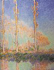 Claude Monet Poplars painting