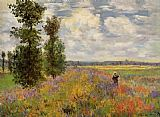 Field Canvas Paintings - Poppy Field Argenteuil
