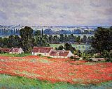 Field Canvas Paintings - Poppy Field Giverny