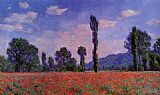 Field Canvas Paintings - Poppy Field in Giverny