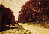 Forest Canvas Paintings - Road in a Forest