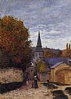 Claude Monet Street in Sainte-Adresse painting