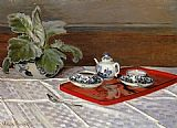 Claude Monet Tea Set painting