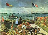 Claude Monet Terrace at St Adresse painting