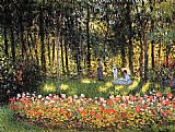 Famous Artist Paintings - The Artist's Family in the Garden