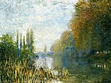 Autumn Canvas Paintings - The Banks of The Seine in Autumn