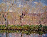 River Canvas Paintings - The Banks of the River Epte in Spring