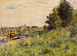 Claude Monet The Banks of the Seine at the Argenteuil Bridge painting