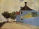House Canvas Paintings - The Blue House at Zaandam