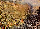 Claude Monet The Boulevard des Capuchine painting