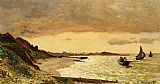 coast Canvas Paintings - The Coast at Sainte-Adresse