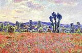 Poppies Canvas Paintings - The Fields of Poppies