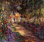 Claude Monet The Flowered Garden painting