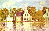 River Canvas Paintings - The House on the River Zaan in Zaandam