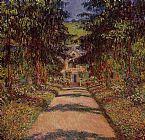 Path Canvas Paintings - The Main Path at Giverny