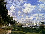 mari Canvas Paintings - The Marina At Argenteuil