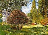 Park Canvas Paintings - The Park at Monceau