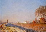 Claude Monet The Plain of Colombes White Frost painting