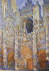 day Canvas Paintings - The Portal of Rouen Cathedral at Midday