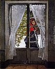 Claude Monet Wall Art - The Red Cape