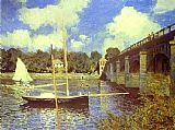 Famous Road Paintings - The Road Bridge at Argenteuil