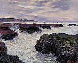 Claude Monet The Rocks at Pourville_ Low Tide painting