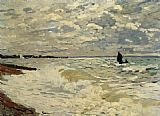 Claude Monet The Sea at Saint Adresse painting