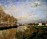 ein Canvas Paintings - The Seine At Argenteuil