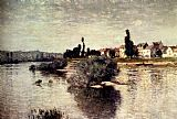 Claude Monet The Seine At Lavacourt painting