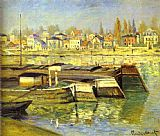 Claude Monet The Seine at Asnieres painting