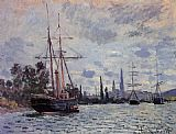 Claude Monet The Seine at Rouen 2 painting