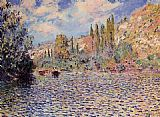Claude Monet The Seine at Vetheuil 2 painting