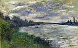 eat Canvas Paintings - The Seine near Vetheuil Stormy Weather