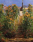 Claude Monet The Steps at Vetheuil painting