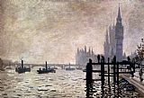 Claude Monet The Thames And The Houses Of Parliament painting