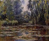 Claude Monet The Water-Lily Pond and Bridge painting
