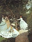 Women Canvas Paintings - The women in the Garden